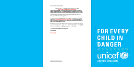 Unicef Refugee Crisis Template Letter to Parents