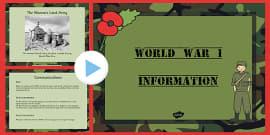World War One Information PowerPoint