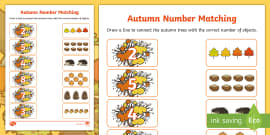 * NEW * Autumn Themed Matching Activity Sheet