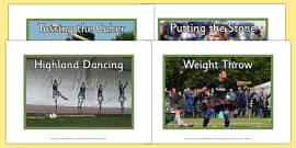 Highland Games Photo Display Pack