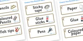 Giraffe Themed Editable Creative Area Resource Labels
