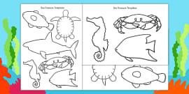 Cut-Out Sea Creature Templates (Under the Sea)