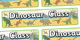 Dinosaur Themed Classroom Display Banner