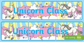 Unicorn Themed Classroom Display Banner