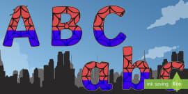 Spider Superhero Themed Display Lettering Pack