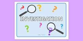 Investigation Area Words On Magnifying Glasses Minibeasts