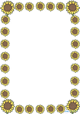 Sunflower Full Page Borders