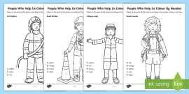 People Who Help Us Colour By Number Dots Pack