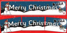Christmas Display Banner (Merry Christmas)