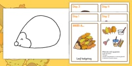 Leaf Hedgehog Craft Instructions
