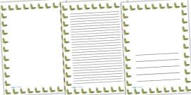 Caterpillar Full Page Borders