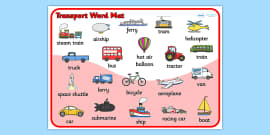 Transport Word Mat