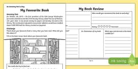 My Favourite Book Activity Sheet