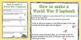 World War Two Lapbook Instructions