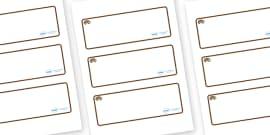 Hedgehog Themed Editable Drawer-Peg-Name Labels (Blank)