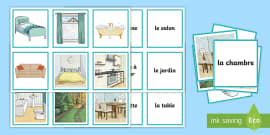 Parts of a House Snap Game French