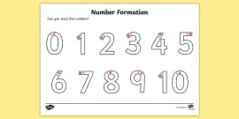 Number Formation Activity Sheet