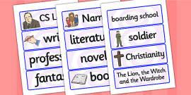 CS Lewis Word Cards