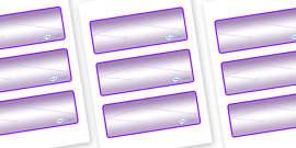 Chameleon Star Constellation Themed Editable Drawer-Peg-Name Labels (Blank)