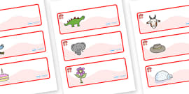 Dragon Themed Editable Drawer-Peg-Name Labels