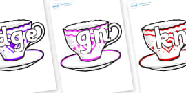Silent Letters on Cups and Saucers