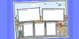 Giant Themed Book Review Writing Frame