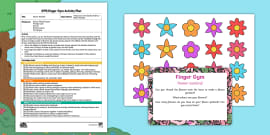 * NEW * Flower Garland Finger Gym Plan and Resource Pack