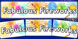 Fabulous Fireworks Display Banner