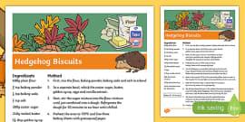 Hedgehog Biscuits Recipe