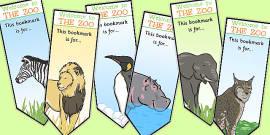 Zoo Animal Bookmarks
