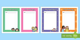 My Apology Letter Writing Frames