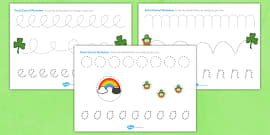 St Patricks Day Pencil Control Activity Sheets