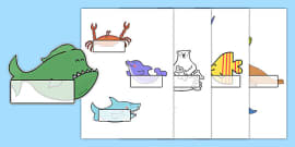 Editable Self-Registration Labels to Support Teaching on Commotion In The Ocean