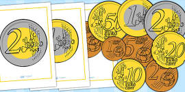 Euro Coin Display Posters