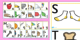 Upper and Lowercase Alphabet Posters