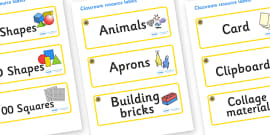 Sunflower Themed Editable Classroom Resource Labels