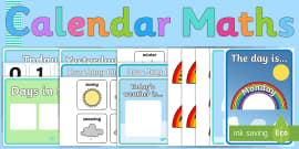 Ready Made Calendar Maths Display Pack