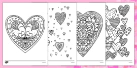 Heart Mindfulness Colouring Sheets
