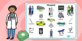 Hospital Word Mat