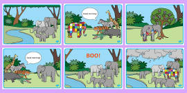 Story Sequencing to Support Teaching on Elmer