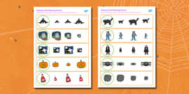 Halloween Size Matching Activity Sheets