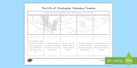 * NEW * Life of Christopher Columbus Activity Sheet