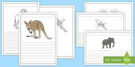 Zoo Animals Writing Frames Pack