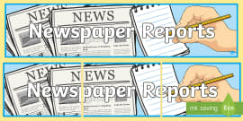 Invasion Newspaper Report Writing Template