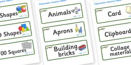 Crocodile Themed Editable Classroom Resource Labels