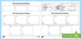 Neil Armstrong Time Line Activity