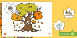 * NEW * Autumn Leaves and Trees Phase 2 Phonics Game