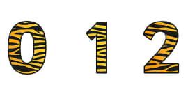 Tiger Pattern Display Numbers