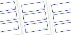 Raindrop Themed Editable Drawer-Peg-Name Labels (Blank)