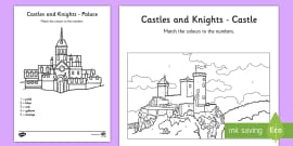 Castles And Knights Colour by Numbers